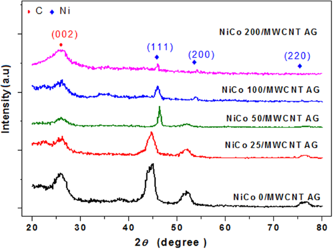 Ni-Co bimetal decorated carbon nanotube aerogel as an