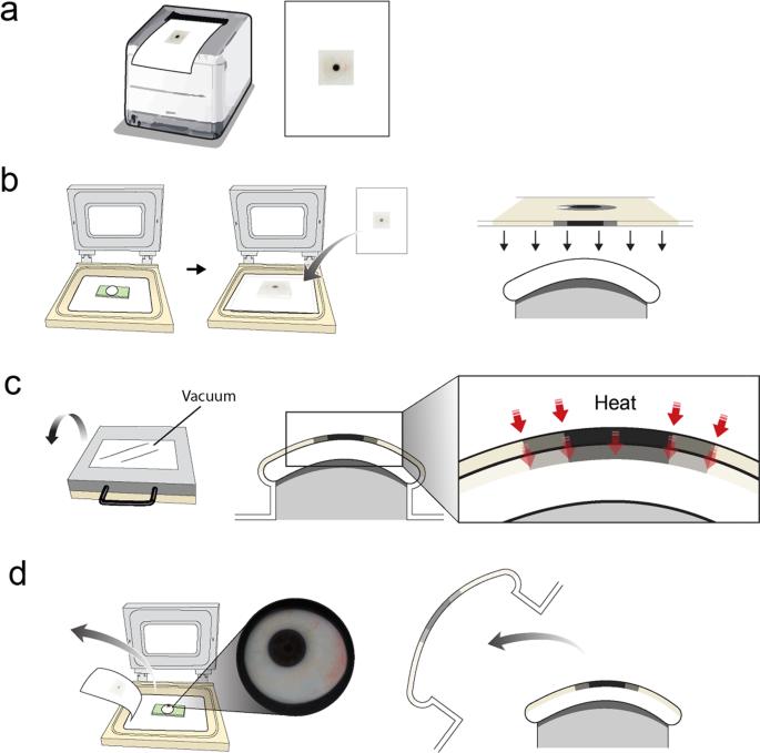 Semi-automated fabrication of customized ocular prosthesis