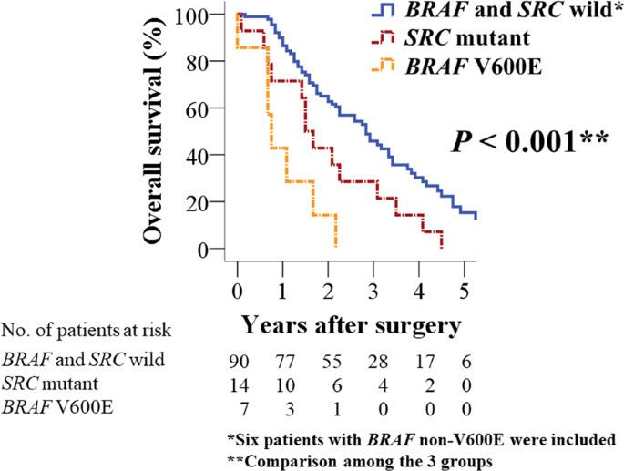 Braf V600e And Src Mutations As Molecular Markers For Predicting Prognosis And Conversion Surgery In Stage Iv Colorectal Cancer Scientific Reports