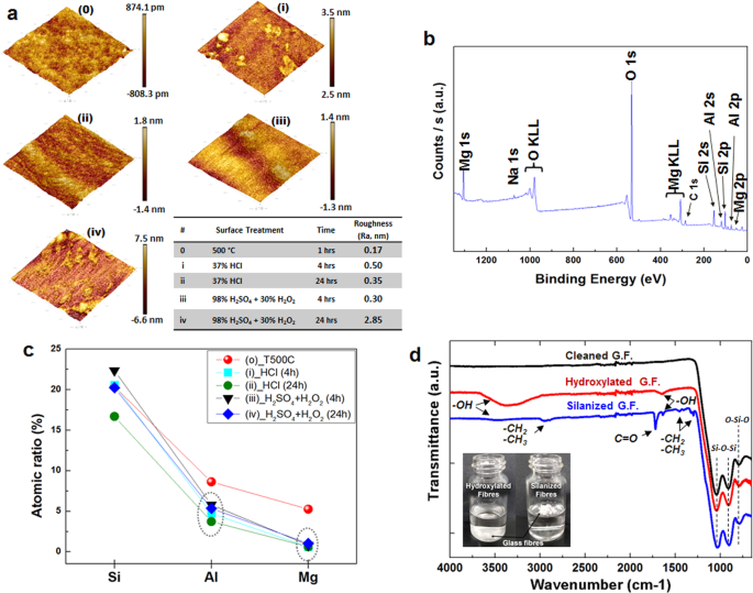 Selective Atomic-Level Etching on Short S-Glass Fibres to Control