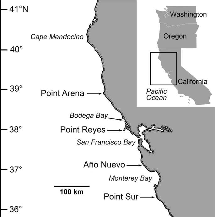 Widespread shifts in the coastal biota of northern California during