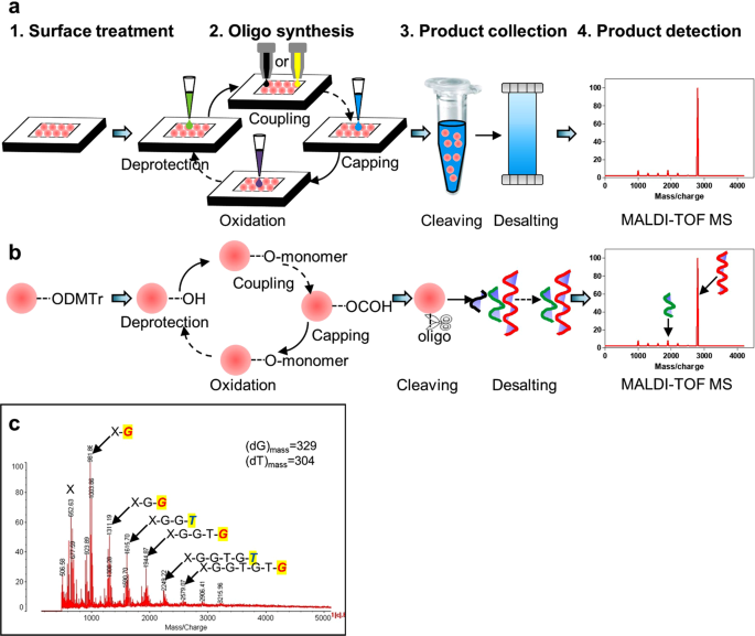 An oligonucleotide synthesizer based on a microreactor chip