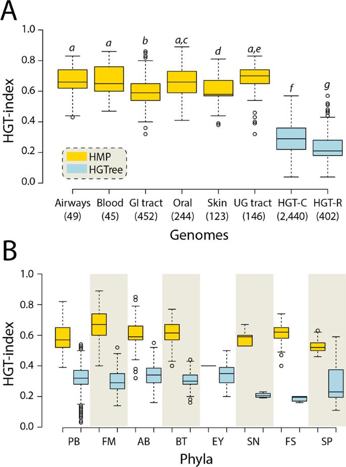 Horizontal gene transfer in human-associated microorganisms