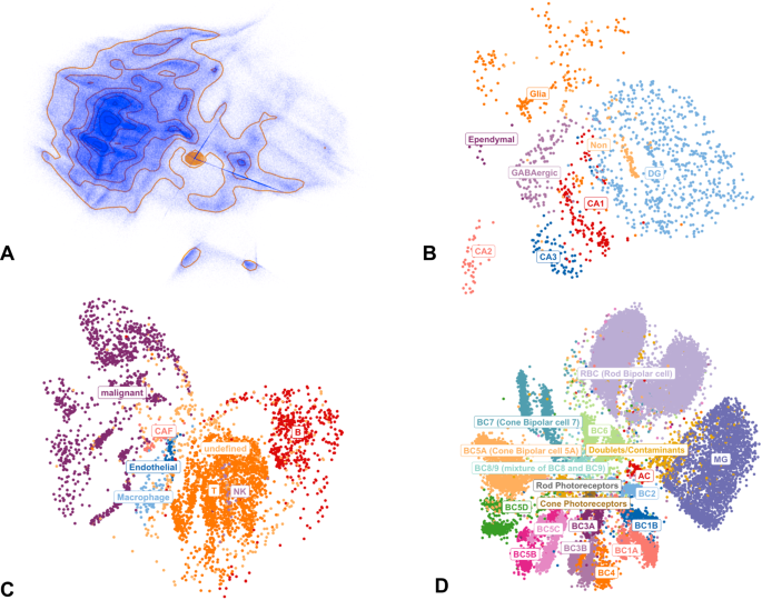 Structure-preserving visualisation of high dimensional single-cell