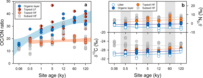 Microbial and abiotic controls on mineral-associated organic