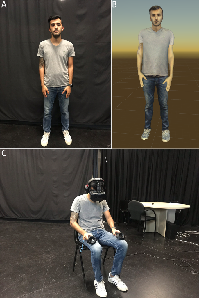 An experimental study of a virtual reality counselling paradigm using