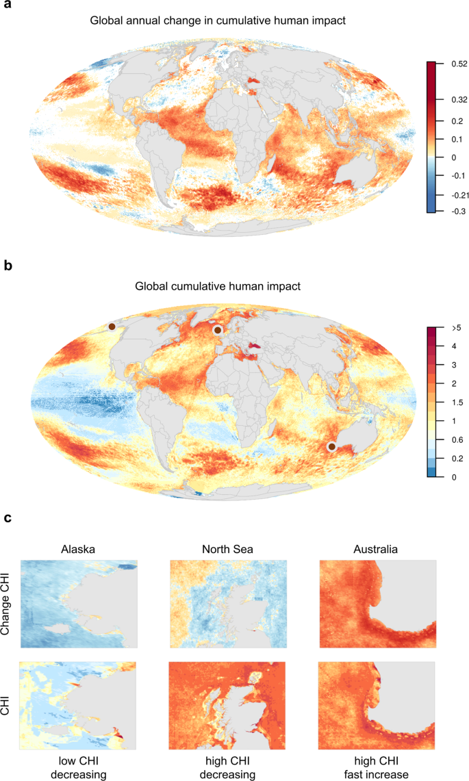 Recent pace of change in human impact on the world's ocean