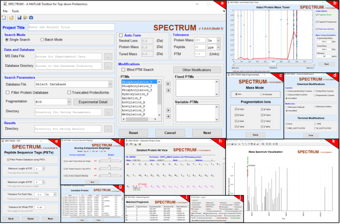 SPECTRUM – A MATLAB Toolbox for Proteoform Identification
