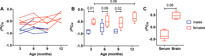 Serum and brain natural copper stable isotopes in a mouse model of Alz