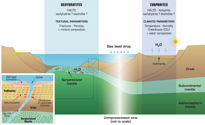 Thermodynamic evidence of giant salt deposit formation by serpentiniza
