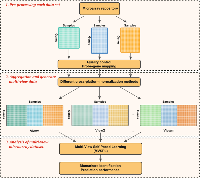 Multi-view based integrative analysis of gene expression data for iden