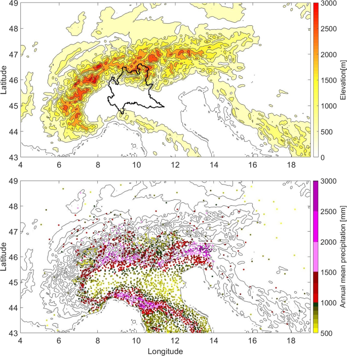 Variability of orographic enhancement of precipitation in the Alpine r