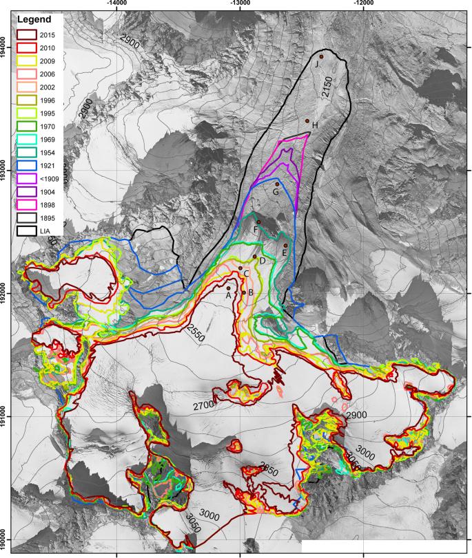 Vegetation dynamics in Alpine glacier forelands tackled from space