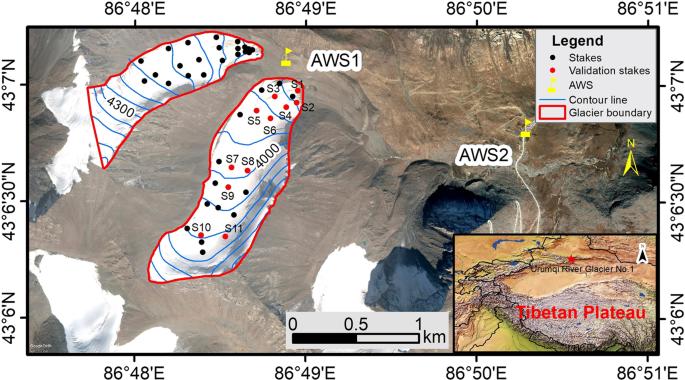 Energy balance model of mass balance and its sensitivity to meteorolog