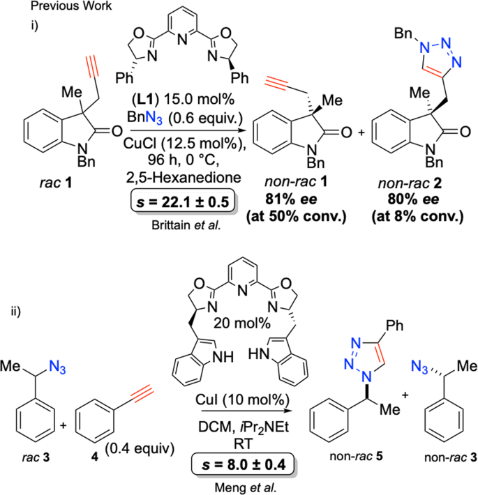 Coetaneous catalytic kinetic resolution of alkynes and azides through