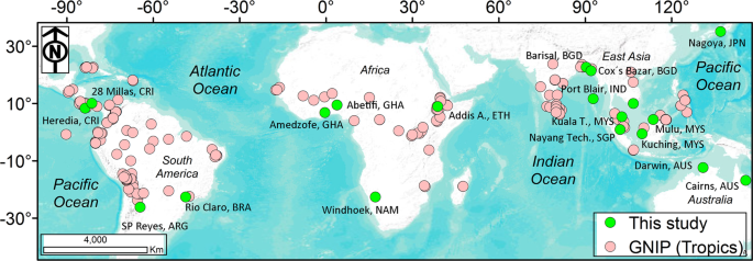 Data Descriptor: Daily observations of stable isotope ratios of rainfa