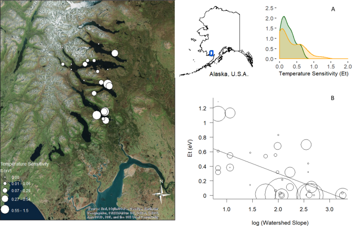 Watershed geomorphology modifies the sensitivity of aquatic ecosystem
