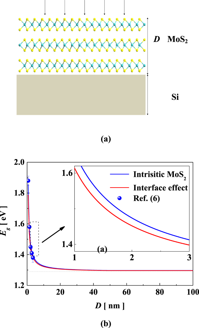 Thickness-dependent photoelectric properties of MoS 2 /Si heterostruct