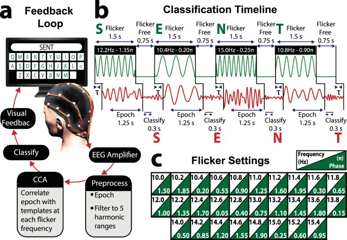 Optimising non-invasive brain-computer interface systems for free comm