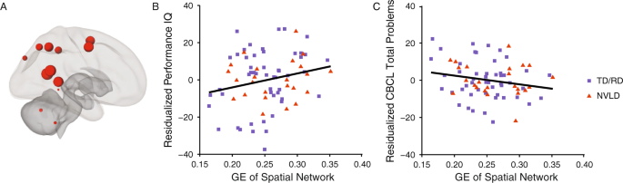 Spatial Network Connectivity and Spatial Reasoning Ability in Children