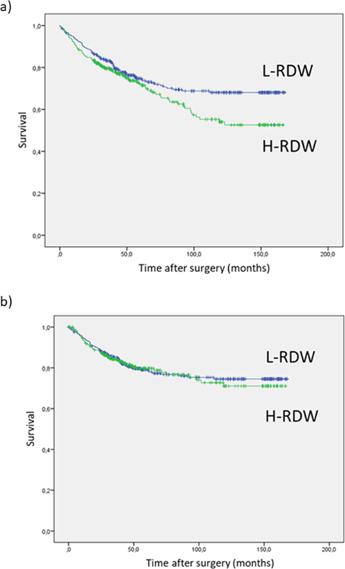 Prognostic Value Of Red Cell Distribution Width Rdw In Colorectal Cancer Results From A Single Center Cohort On 591 Patients Scientific Reports