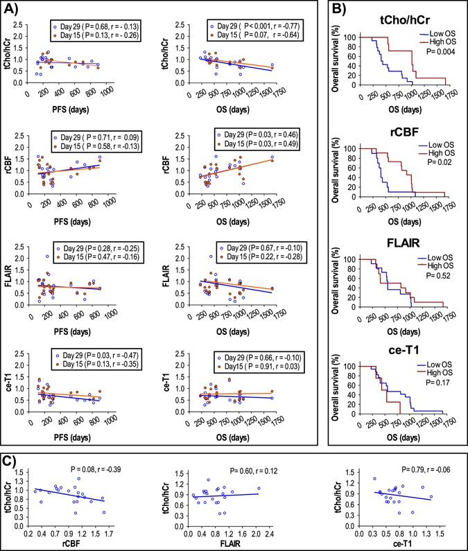 Early changes in glioblastoma metabolism measured by MR