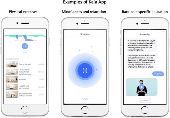 App-based multidisciplinary back pain treatment versus combined