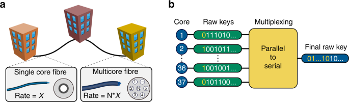 Boosting the secret key rate in a shared quantum and classical fibre c