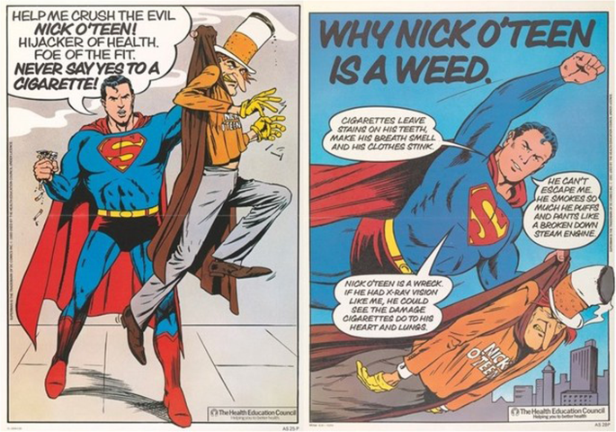 Superman vs. Nick O'Teen: anti-smoking campaigns and children in