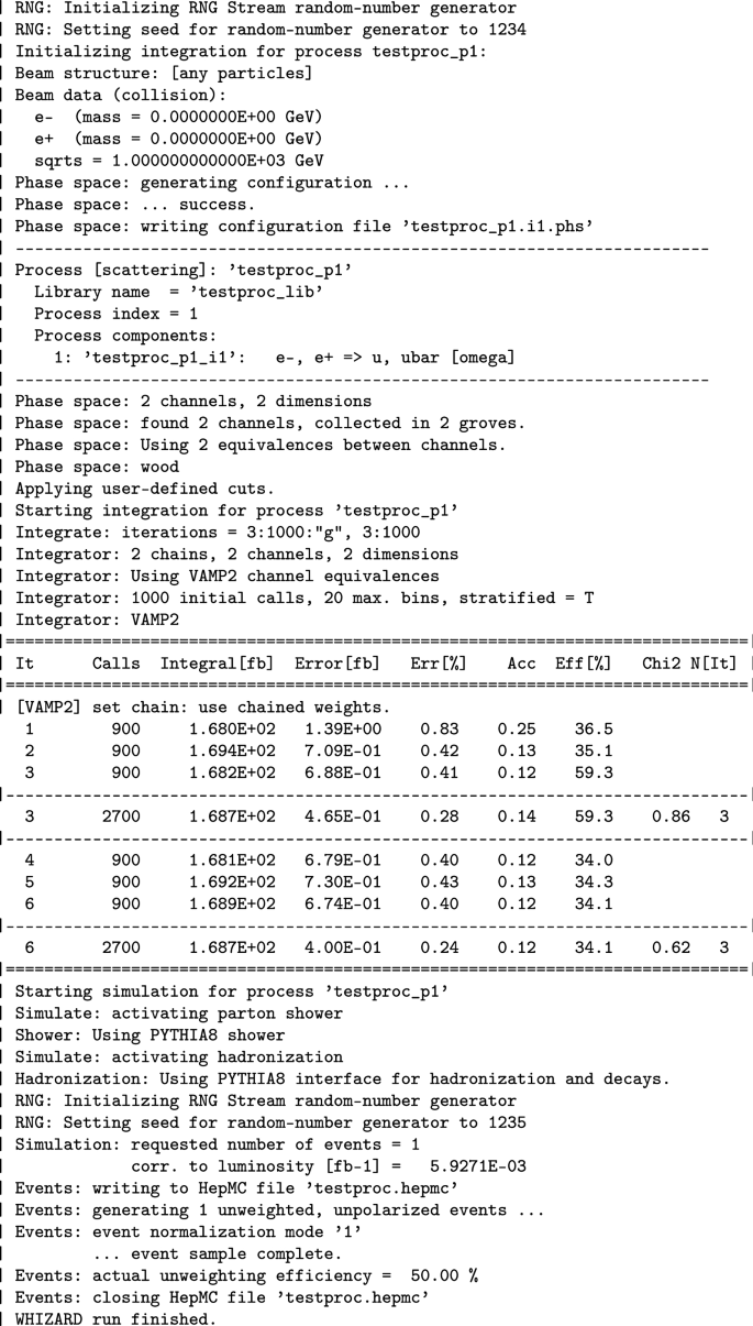 Parallel adaptive Monte Carlo integration with the event generator ...