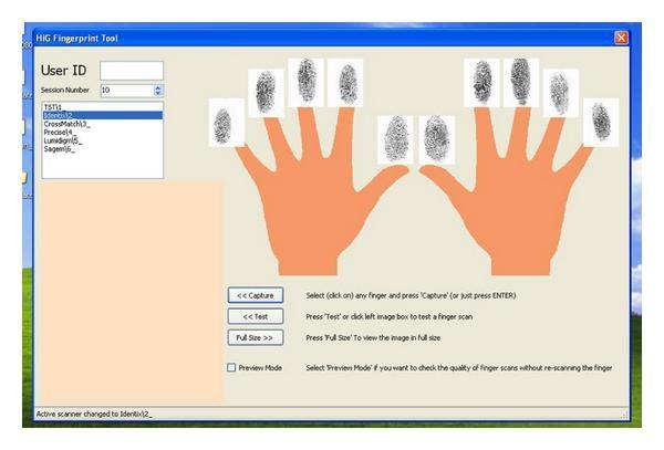GUC100 Multisensor Fingerprint Database for In-House