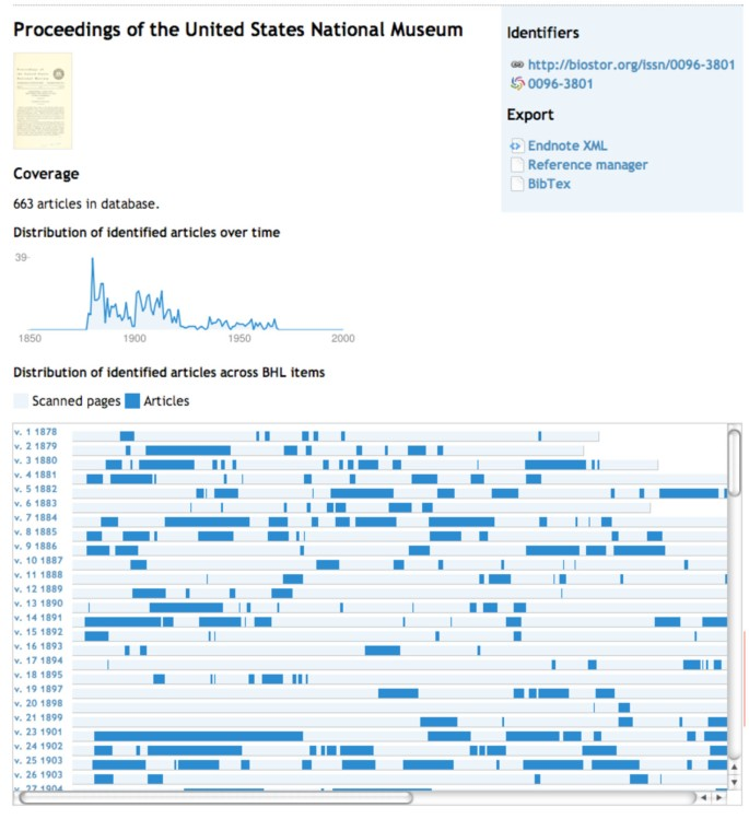 Extracting scientific articles from a large digital archive