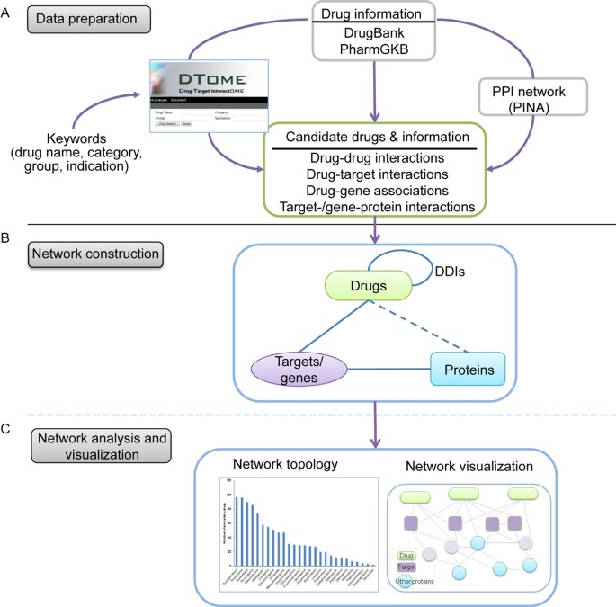 DTome: a web-based tool for drug-target interactome