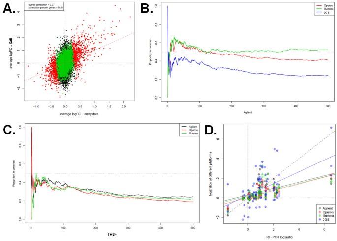 Multiple platform assessment of the EGF dependent transcriptome by
