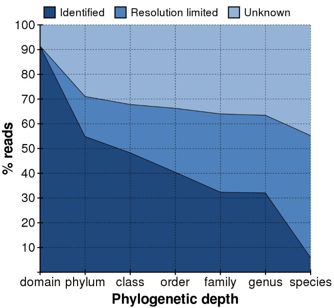 Bacterial flora-typing with targeted, chip-based Pyrosequencing