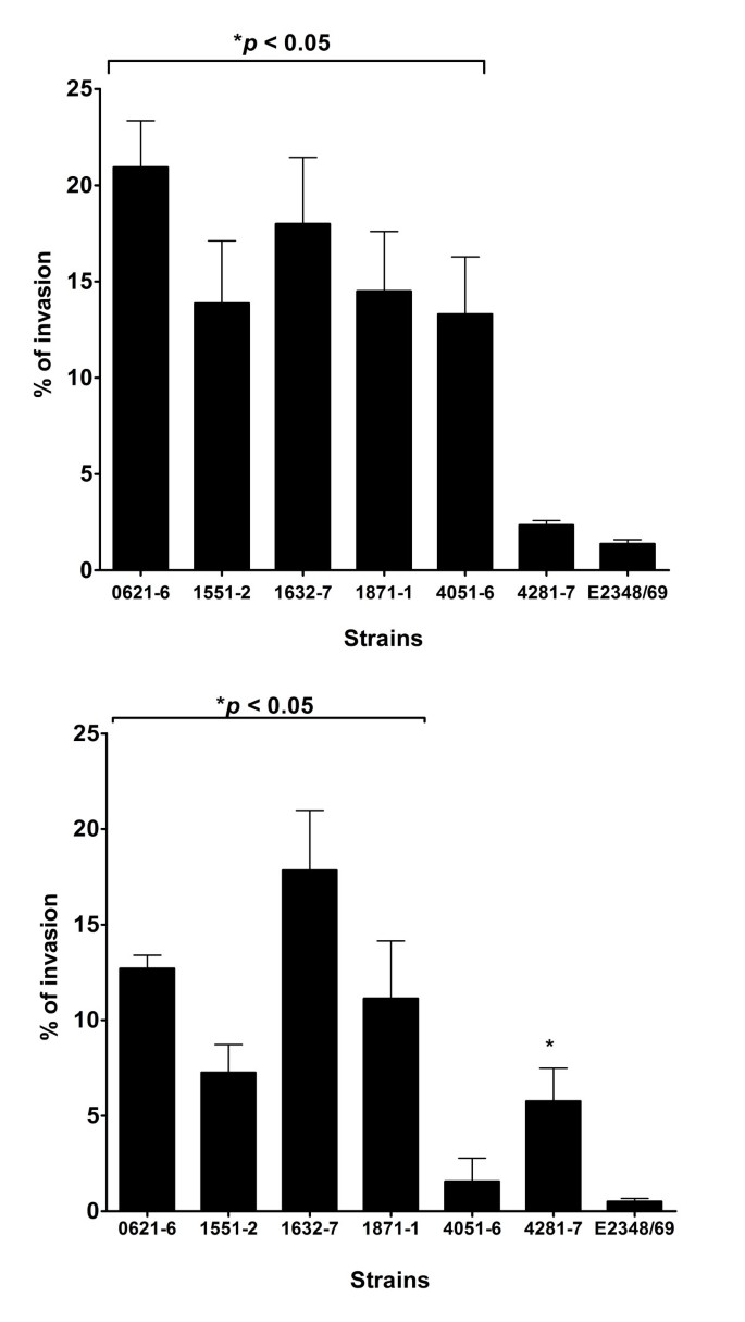 Invasiveness as a putative additional virulence mechanism of some