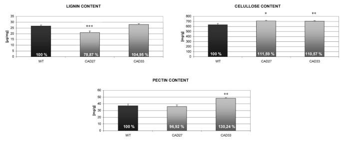 Manipulating cinnamyl alcohol dehydrogenase (CAD) expression in flax
