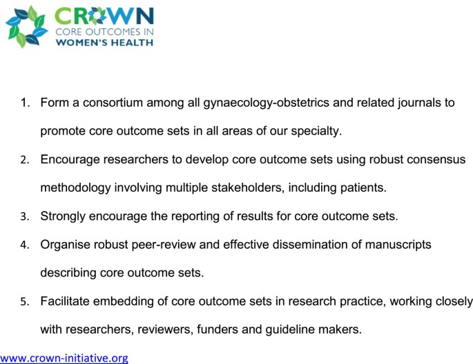 The CROWN initiative: journal editors invite researchers to