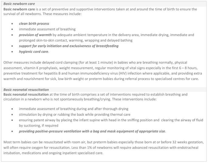 Basic newborn care and neonatal resuscitation: a multi