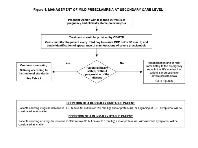 Critical pathways for the management of preeclampsia and