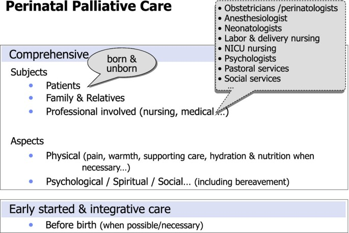 The model of palliative care in the perinatal setting: a