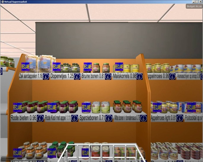The virtual supermarket: An innovative research tool to
