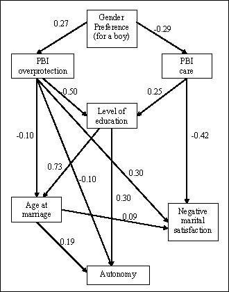 Male gender preference, female gender disadvantage as risk
