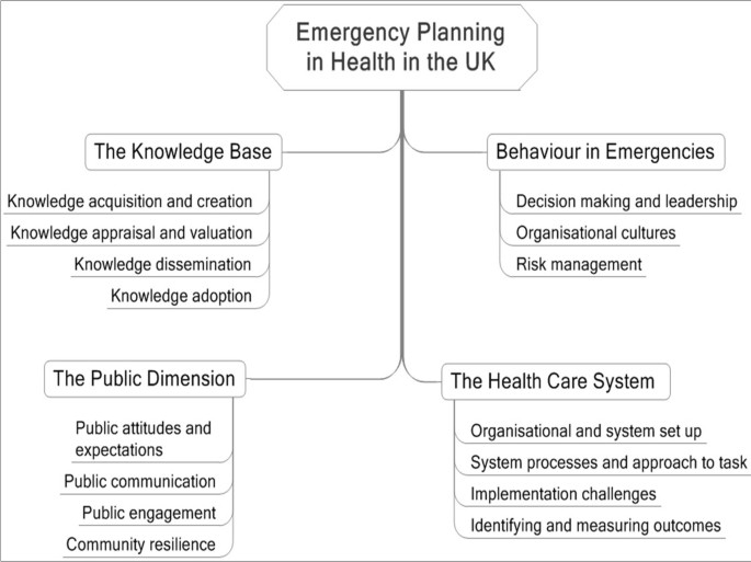 Emergency management in health: key issues and challenges in