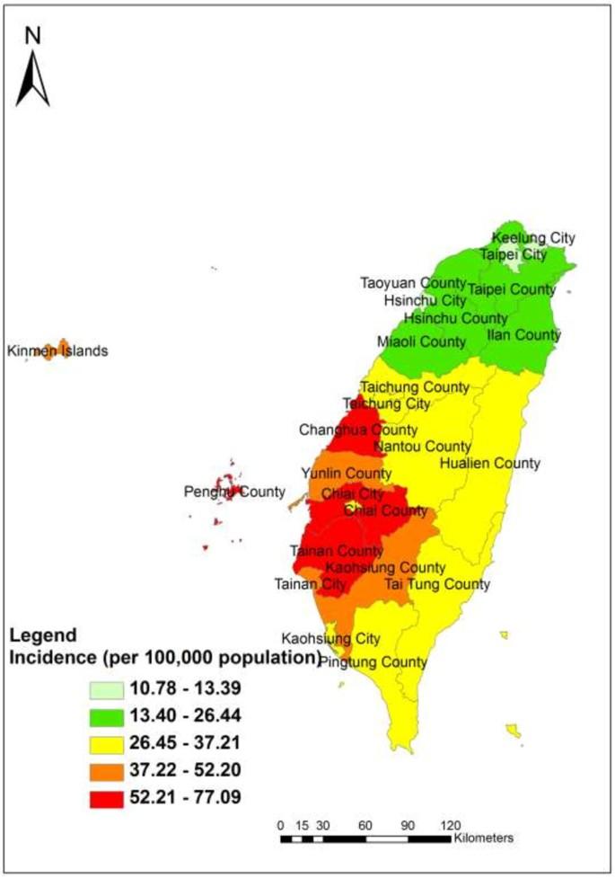 Spatio-temporal analysis on enterovirus cases through