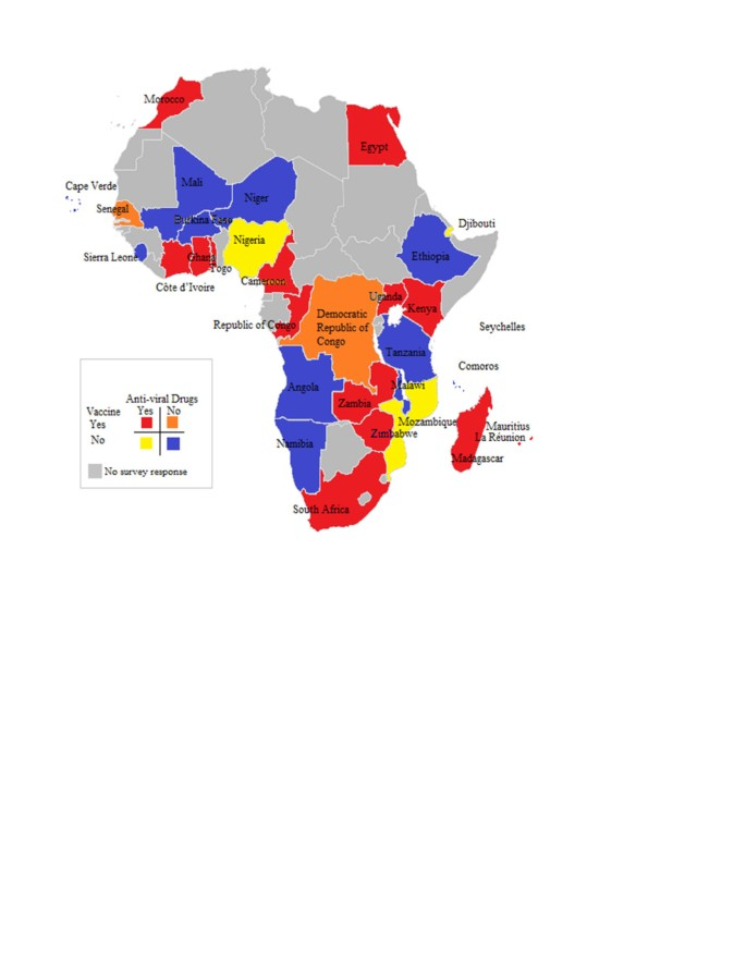 Influenza vaccines and influenza antiviral drugs in Africa