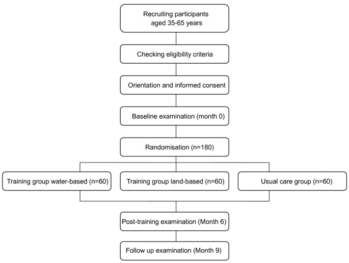 Land- and water-based exercise intervention in women with