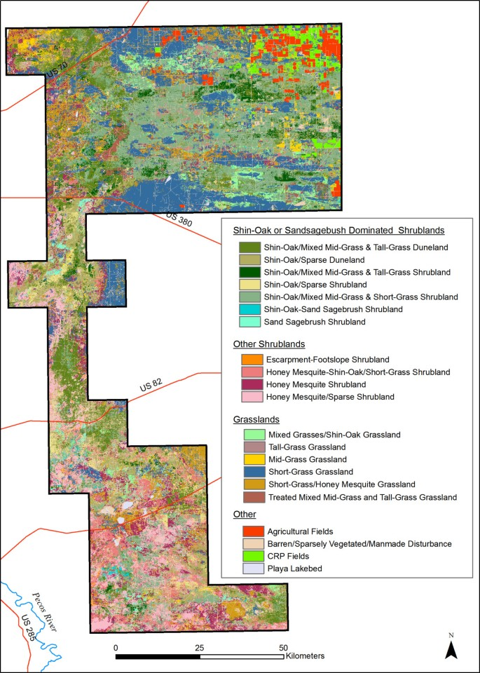 GIS habitat analysis for lesser prairie-chickens in