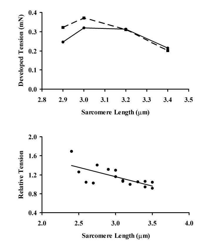 Sarcomere length-dependence of activity-dependent twitch