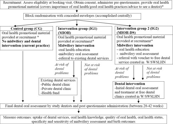 The midwifery initiated oral health-dental service protocol